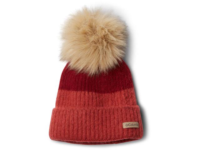 Columbia Winter Blur Bonnet Pompon, beet/daredevil
